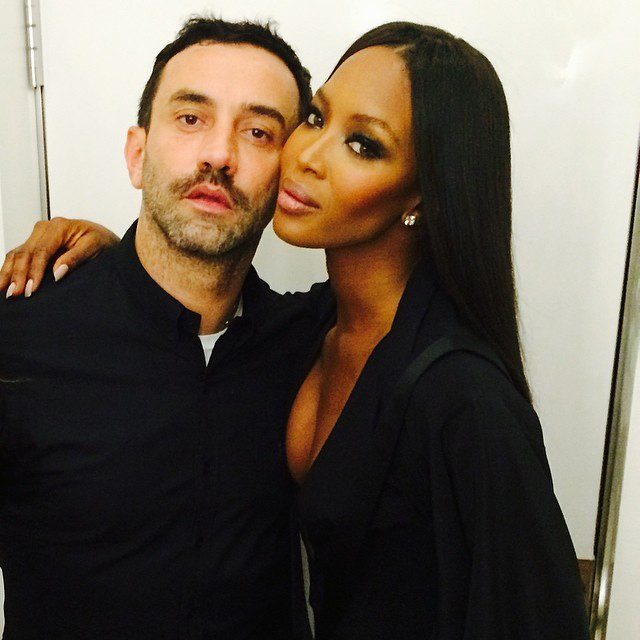 @naomicampbell with Givenchy's @riccardotisci17