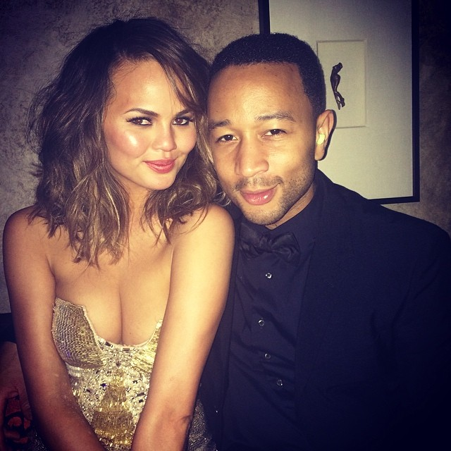 Chrissy Teigen (@chrissyteigen) lights up the Borgata following John Legend's (@johnlegend) performance in Atlantic City