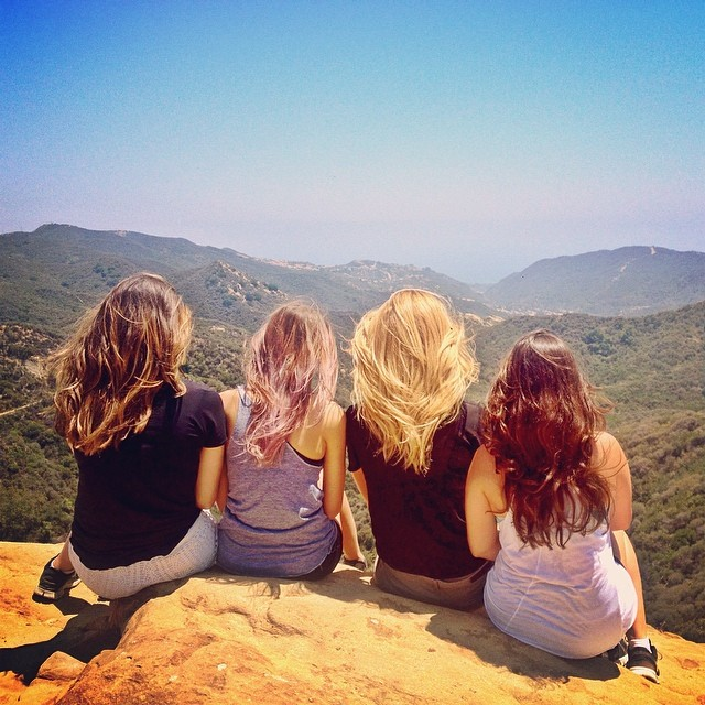 Kate Bock (@katelynnebock) and her well-tressed friends hit up Topanga Canyon for some Pantene-quality hair tossing