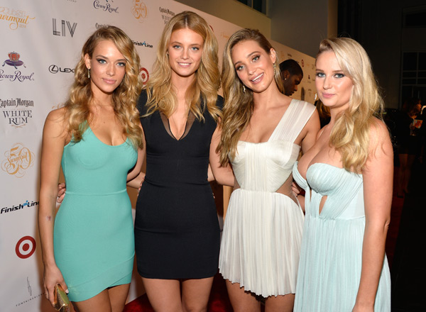 Hannah Ferguson, Kate Bock, Hannah Davis and Genevieve Morton :: Getty Images
