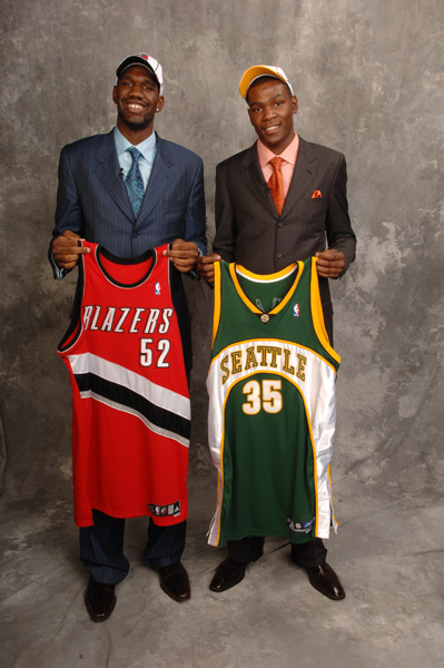 Kevin Durant and Greg Oden :: Getty Images