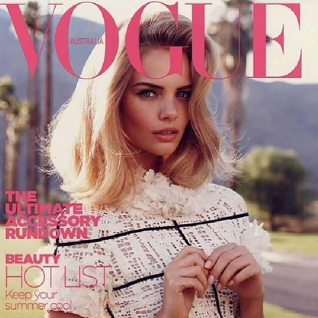 Marloes Horst (@marloeshorst) reposted an old cover she did for Vogue Australia