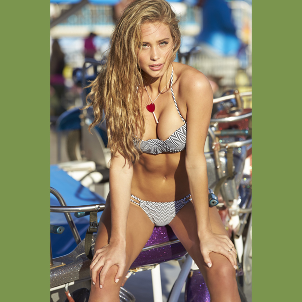 Hannah Davis at the Jersey Shore, Swimsuit 2014 :: Ben Watts/SI