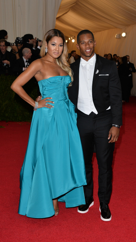 Victor Cruz & Elaina Watley (Dimitrios Kambouris/Getty Images)