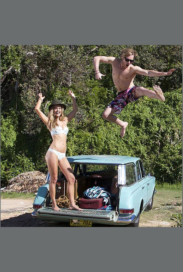 Nina Agdal with actor Sean Keenan  :: Mambo Australia