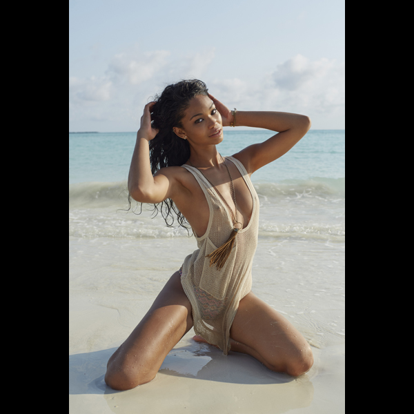 Chanel Iman in Madagascar, Swimsuit 2014 :: Derek Kettela/SI