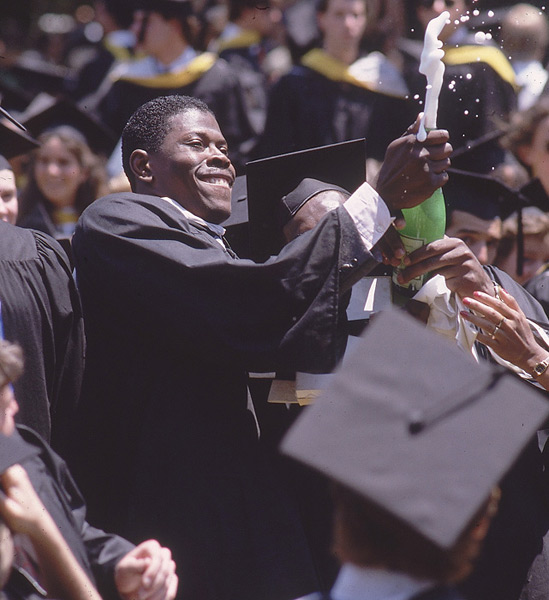Patrick Ewing, Georgetown, 1985 :: Bill Eppridge/SI
