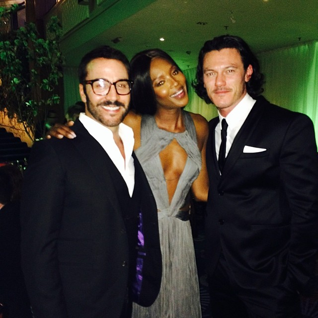 @iamnaomicampbell: #with the boys @thereallukevans @howulivinjpiven #fun !!!