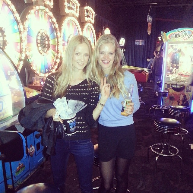 @valerievdgraaf: having so much fun in the arcade with @alek_alexeyeva #arcade #fun#winning #games