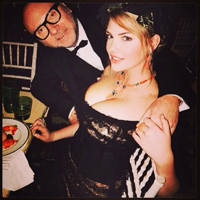 @kateupton: Great time last night with my amazing date #metball #dolceandgabbana