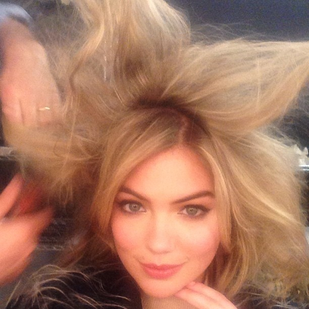 @kateupton: A good hair trick to make you look taller