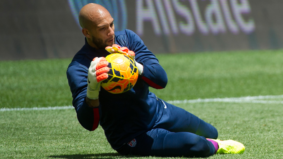 U.S. goalkeeper Tim Howard is set to reach the 100-cap milestone in Saturday's friendly against Nigeria.