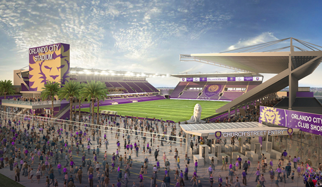Orlando City's planned downtown stadium