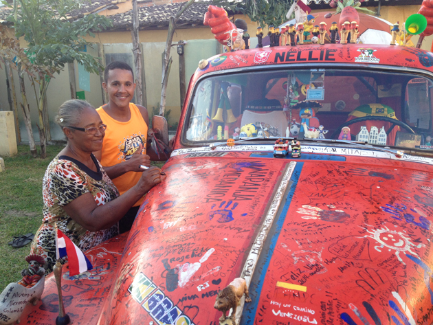 Nellie, Ben Oude Kamphuis' truck, made it safe and sound from San Francisco to Brazil.