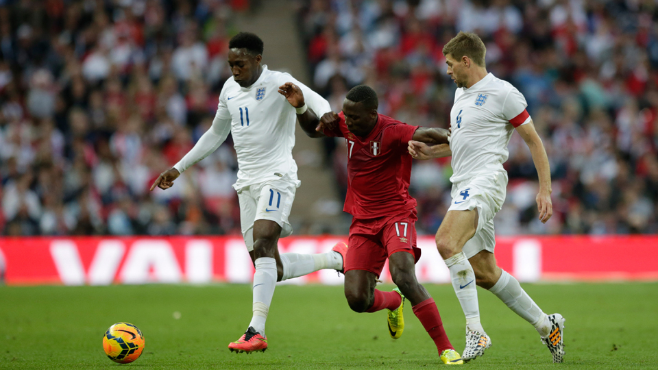 England forward Danny Welbeck, left, is doubtful for the Three Lions' World Cup opener against Italy on Saturday.