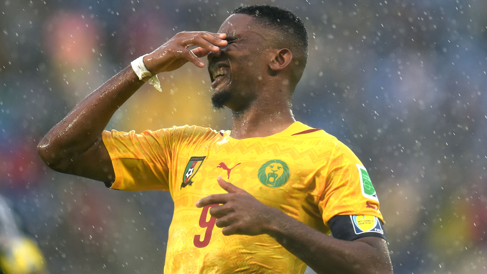 Cameroon star forward Samuel Eto'o may miss the Indomitable Lions' clash with Croatia with an injury.