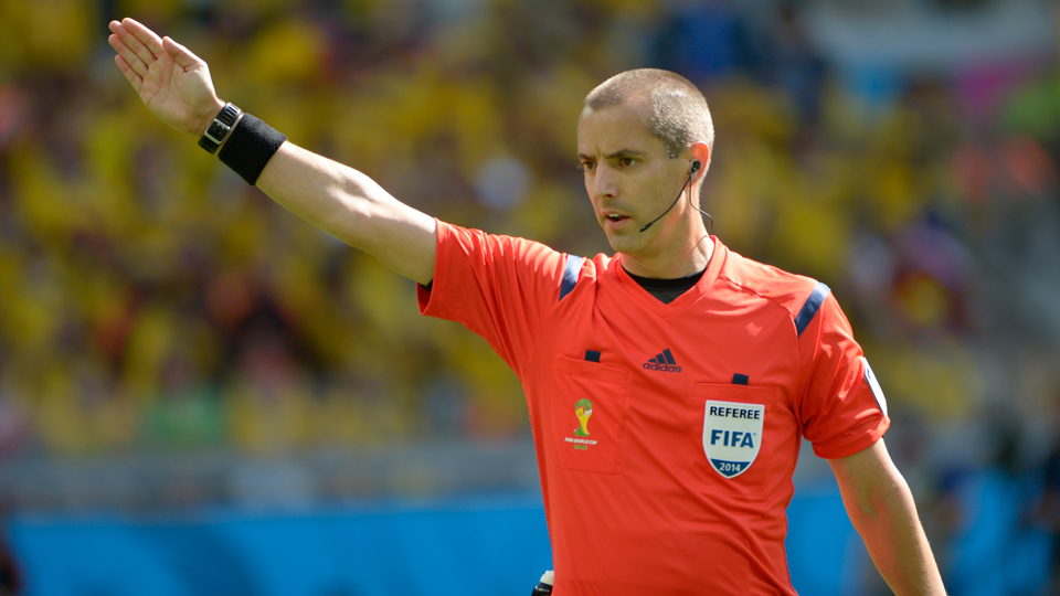 Referee Mark Geiger will be the first American to officiate a World Cup knockout game when he works France vs. Nigeria on Monday.