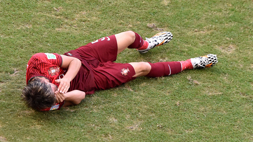 Portugal left back Fabio Coentrao has been ruled out for the World Cup with a thigh tear.
