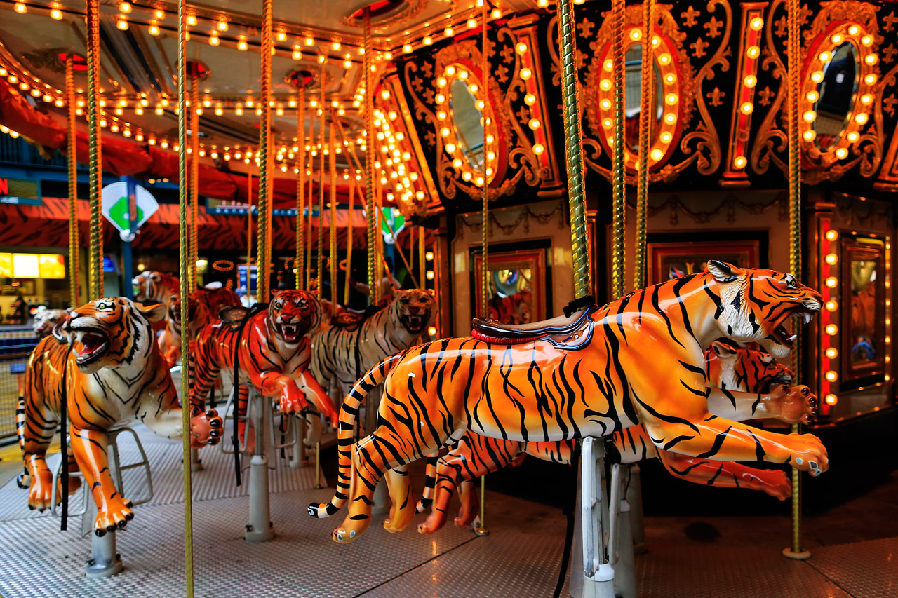 Comerica Park merry-go-round (Photo by Jamie Squire/Getty Images)