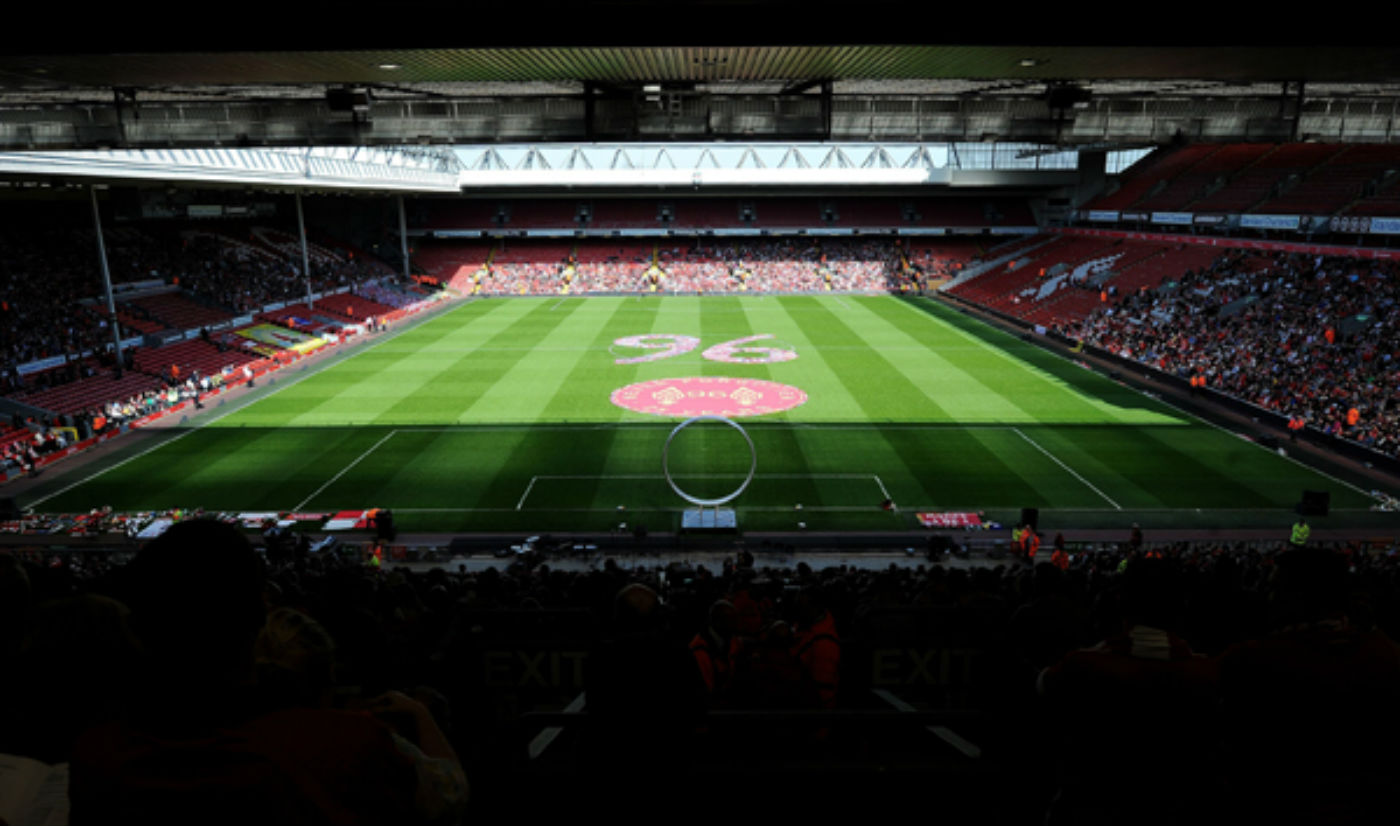 Tuesday's memorial service at Anfield. (Liverpool FC)