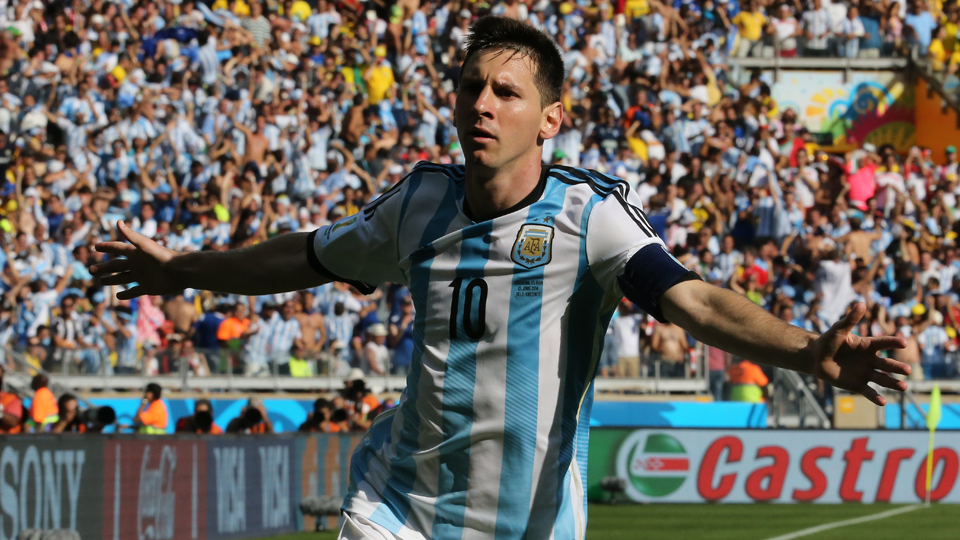 Lionel Messi soaks in the moment after his golazo lifts Argentina to a last-gasp 1-0 win over upstart Iran.
