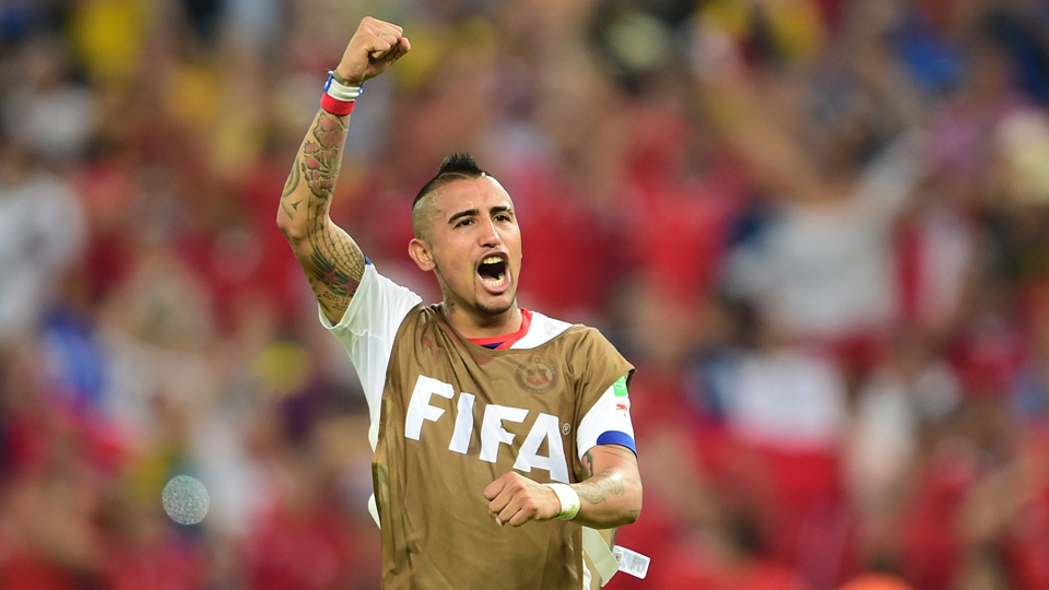 Chile star midfielder Arturo Vidal is 'not close to 100 percent' according to manager Jorge Sampaoli.