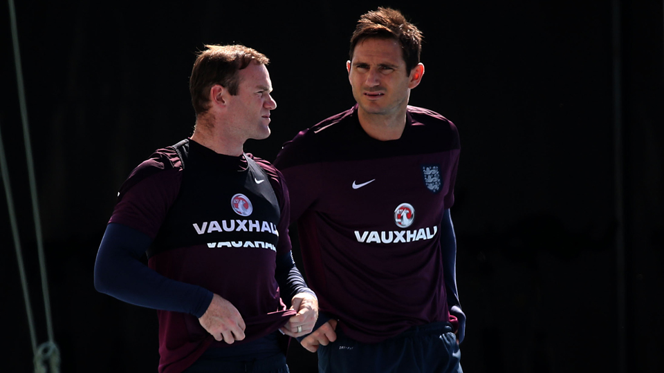 Frank Lampard, right with Wayne Rooney, will captain England in its final World Cup game vs. Costa Rica.