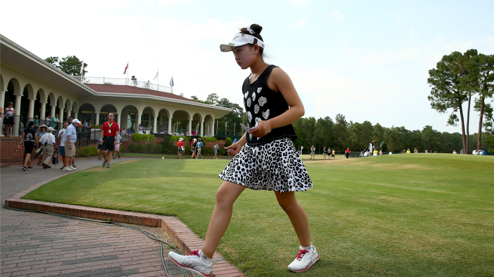 Lucy Li delighted crowds at Pinehurst with her sunny disposition.