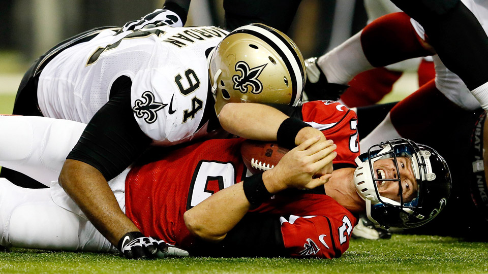 Matt Ryan took 44 sacks in 2013, his career-high by a substantial margin, as the Falcons stumbled to 4-12.