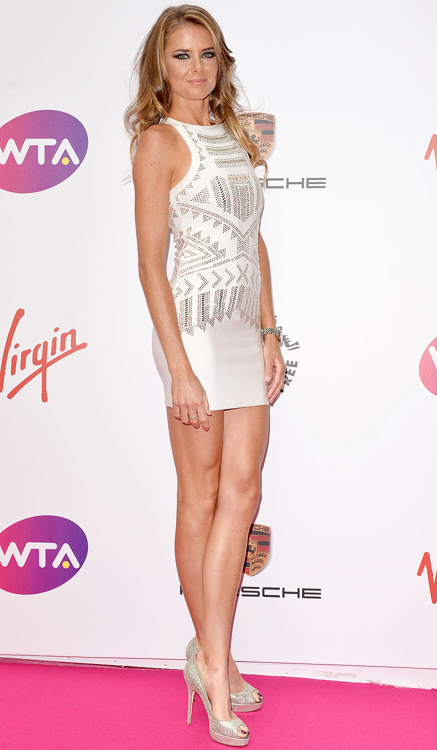 Daniela Hantuchova: Hantuchova. Mini-dress. Check.