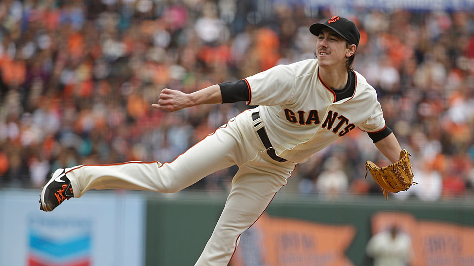 Tim Lincecum faced just one batter over the minimum against San Diego on Wednesday.