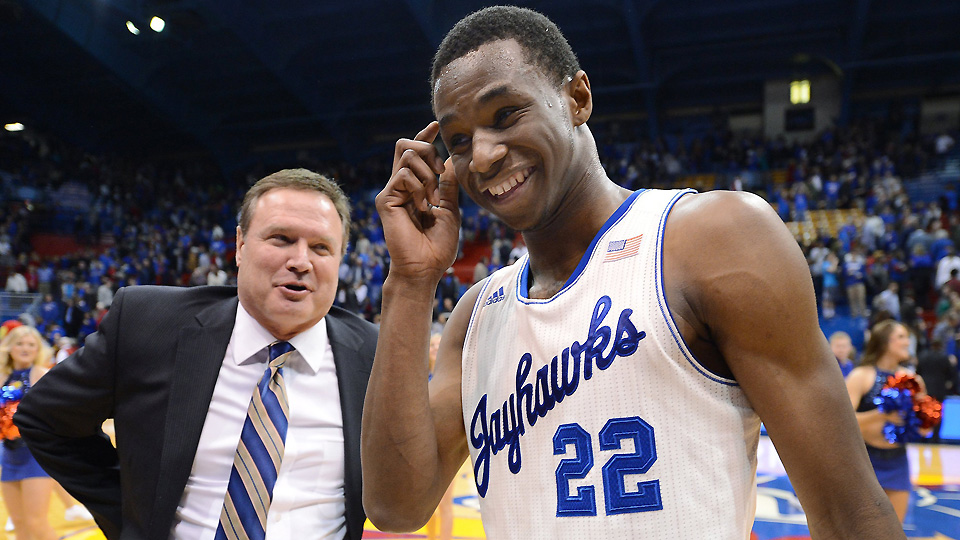 No. 1 overall pick Andrew Wiggins was one of two stars for Bill Self who went in the top three at the NBA draft.
