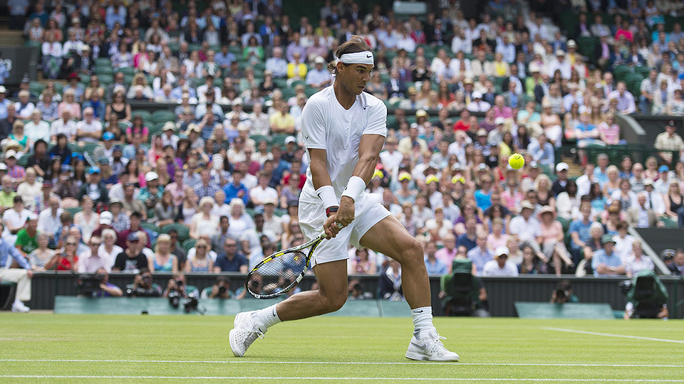 While Rafael Nadal dropped the first set, he turned the match around by winning eight consecutive games.