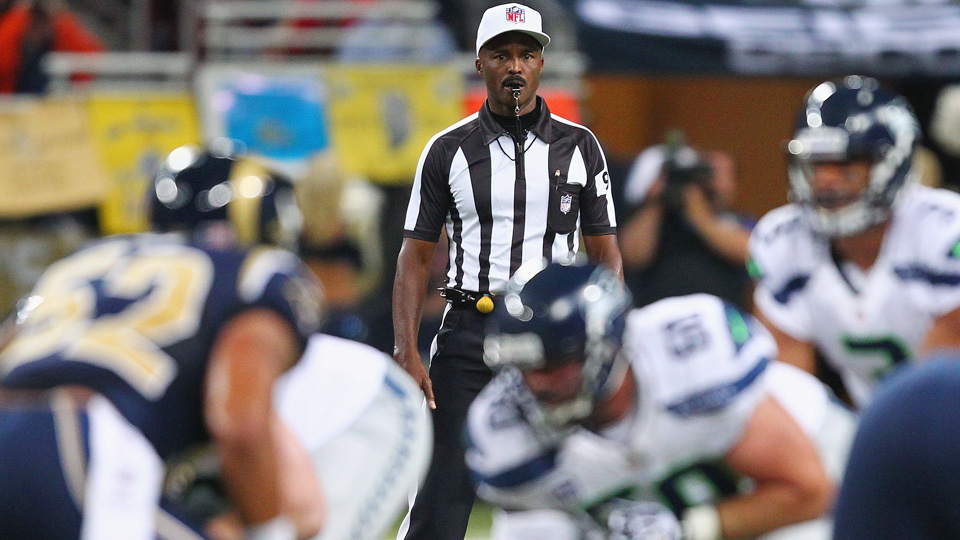 Recently retired NFL referee Mike Carey has worked 17 postseason games, including Super Bowl XLII between the New England Patriots and New York Giants.