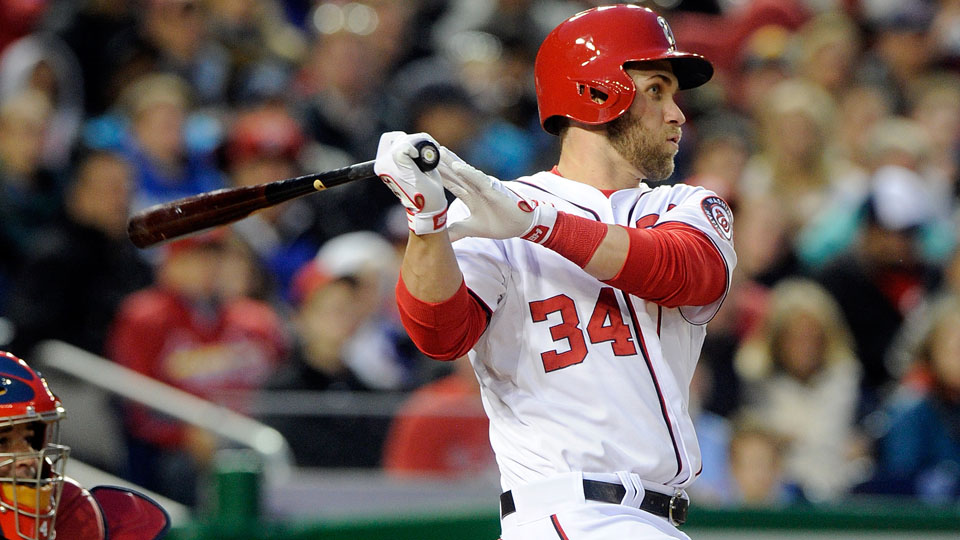 Bryce Harper was batting .289 before going on the DL.