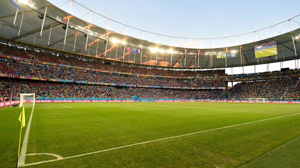 Arena Fonte Nova in Salvador will host the USA's round of 16 clash against Belgium.