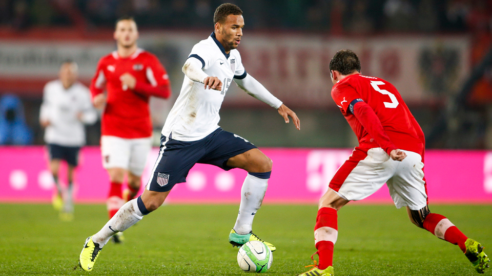 USA forward Terrence Boyd is on the move scored in a preseason friendly on Friday.
