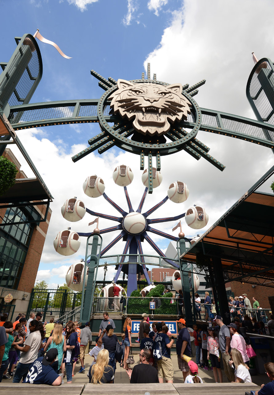 Comerica Park Ferris wheel  (Photo by Mark Cunningham/MLB Photos via Getty Images)
