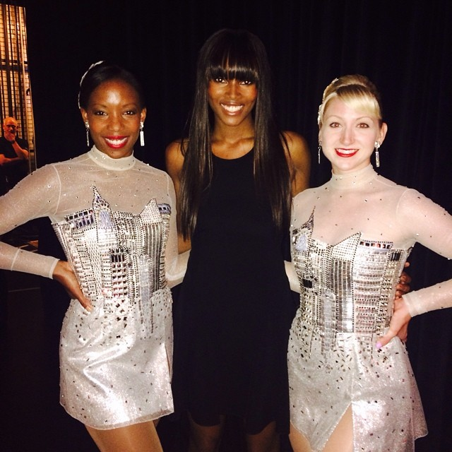 @damarislewis: OH WHAT A NIGHT! Backstage at Radio City with 2 of my favorite Rockettes after the show. So proud of our kids!!!!!!!!! #WishUponADream