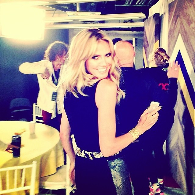 @heidiklum: learning how to twerk on #nbcagt tonight!!!!!
