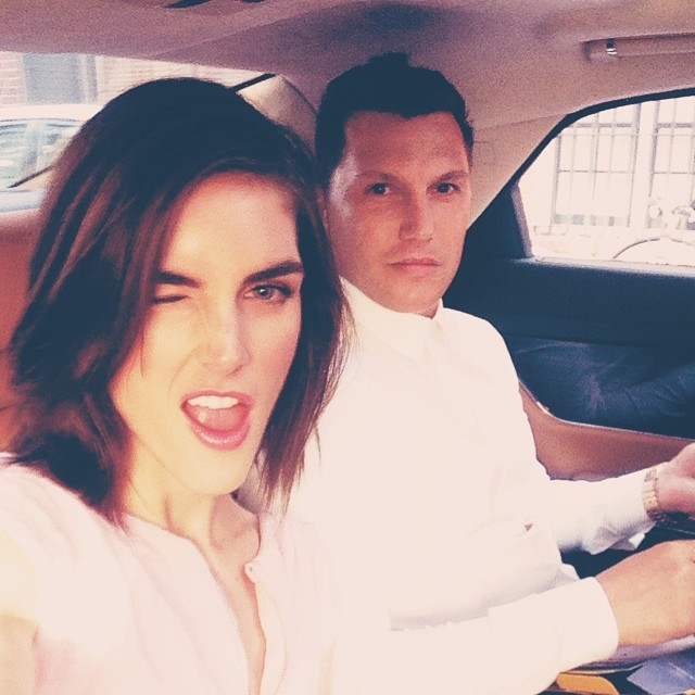 @hilaryhrhoda: On the way to the FiFi Awards to present tonight with @imseanavery