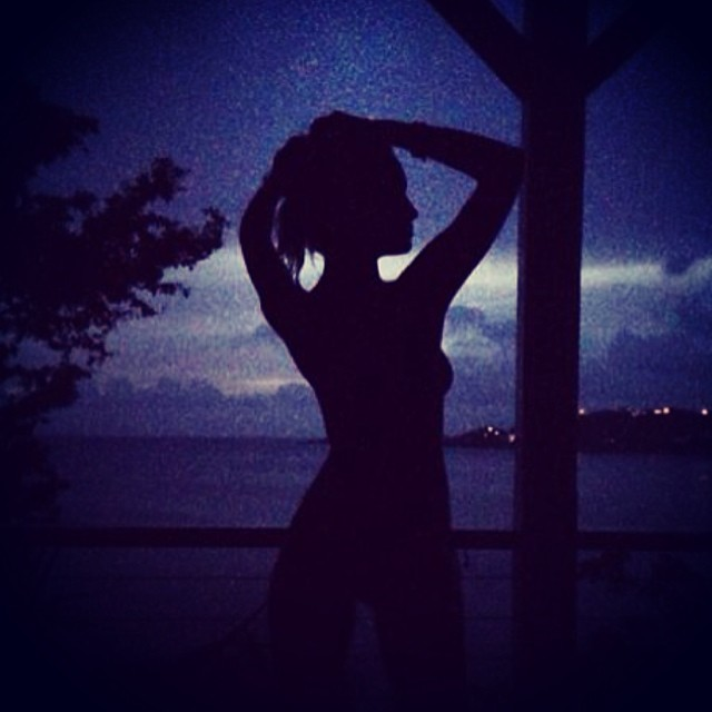 @hferguson1313: #relaxing in the #beautiful #VirginIslands . #Silhouette #sunset #photocredit@conndavis