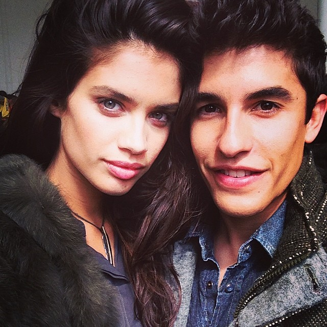 @sarasampaio: Shoting @gasjeans next fw campaign with @marcmarquez93