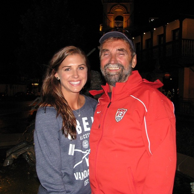 @alexmorgan13: The person I look to for advice, for encouragement, and in the stands at my games for confidence. My biggest supporter, my dad. Happy Father's Day!