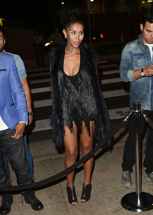 V. Stiviano spotted outside the event! :: GC Images