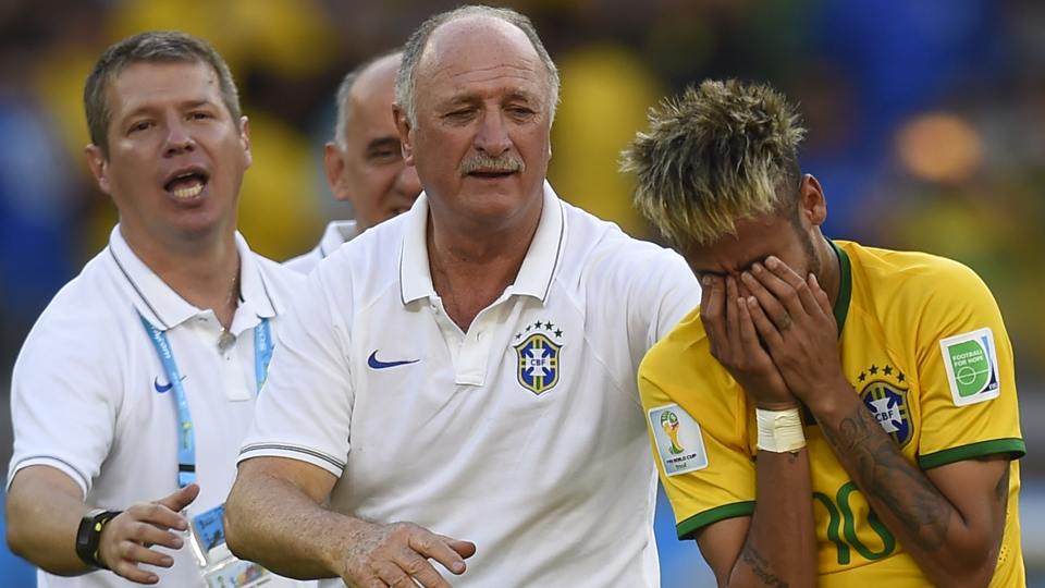 Brazil star Neymar is overcome with emotion after the Selecao defeated Chile in a tense round of penalty kicks to stay alive in the World Cup.