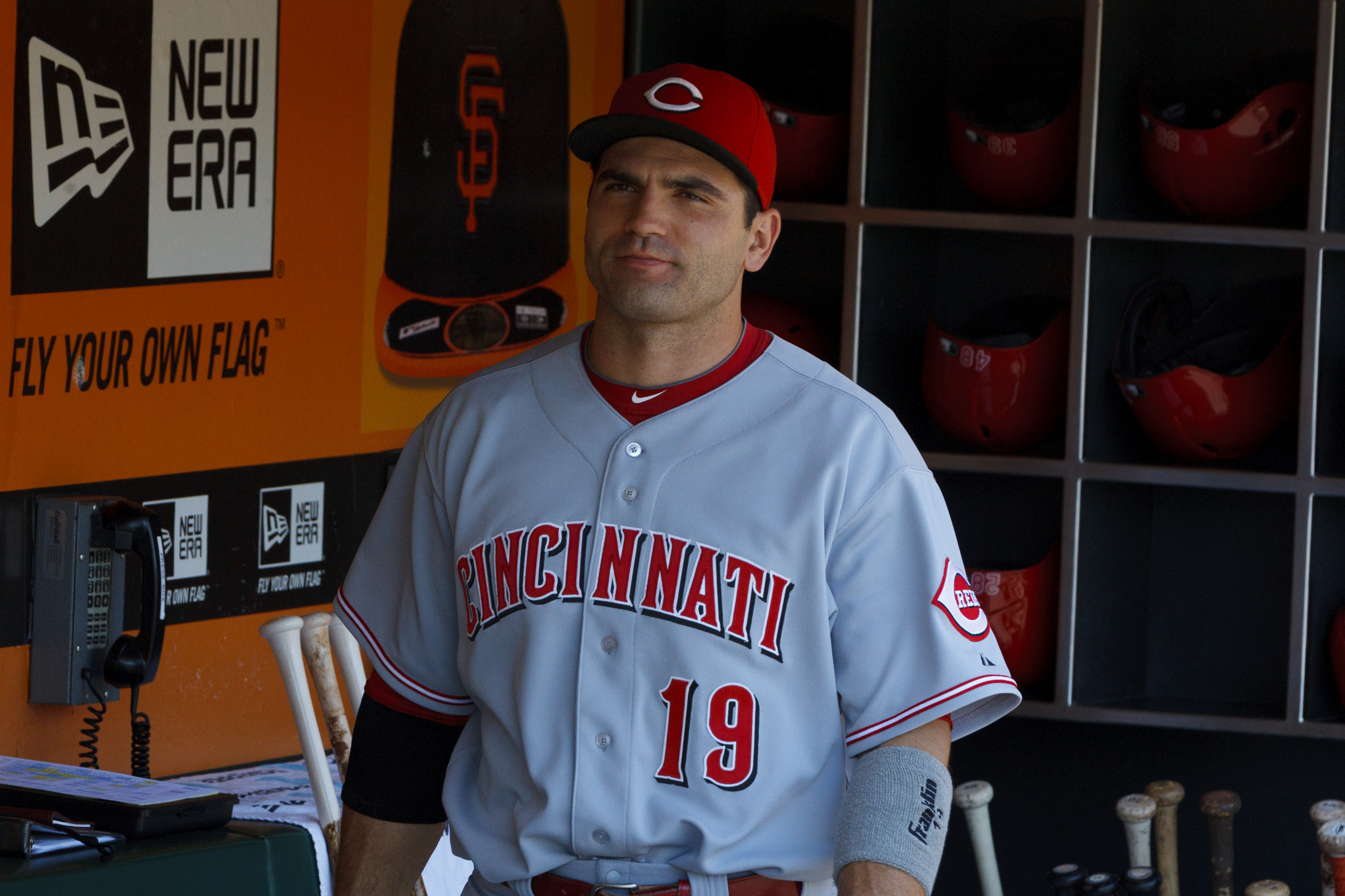 Joey Votto was a late scratch Sunday. He has one hit in his past 11 at-bats and is 6-for-37 over his last 11 games.