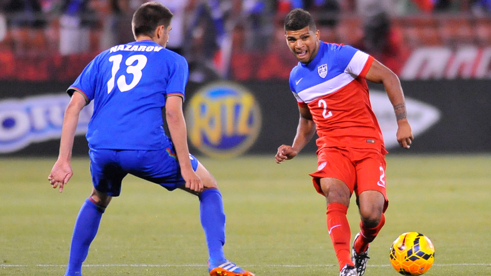 The representatives for USA and Seattle Sounders right back DeAndre Yedlin, right, claim no deal is in place for a transfer overseas despite reports to the contrary.