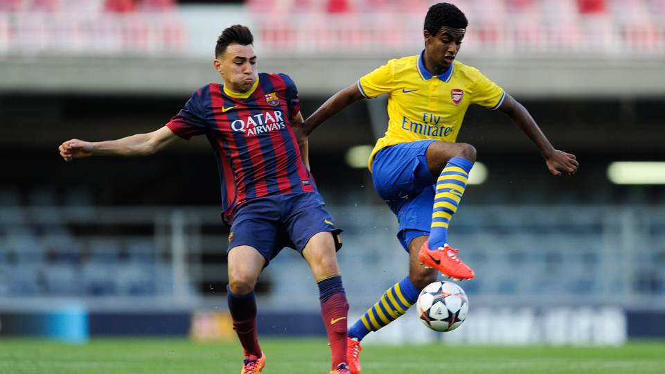 Arsenal rising star and U.S. national team target Gedion Zelalem, right, will be available for selection during Saturday's friendly against the New York Red Bulls.