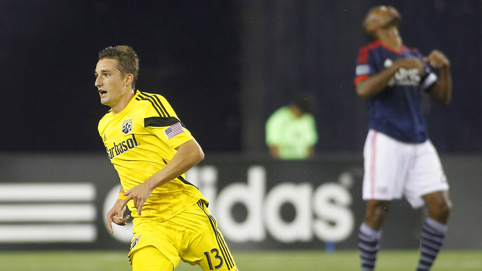Ethan Finlay's game-winner for the Crew puts New England one short of the club record for consecutive losses that was set in 1997-98.